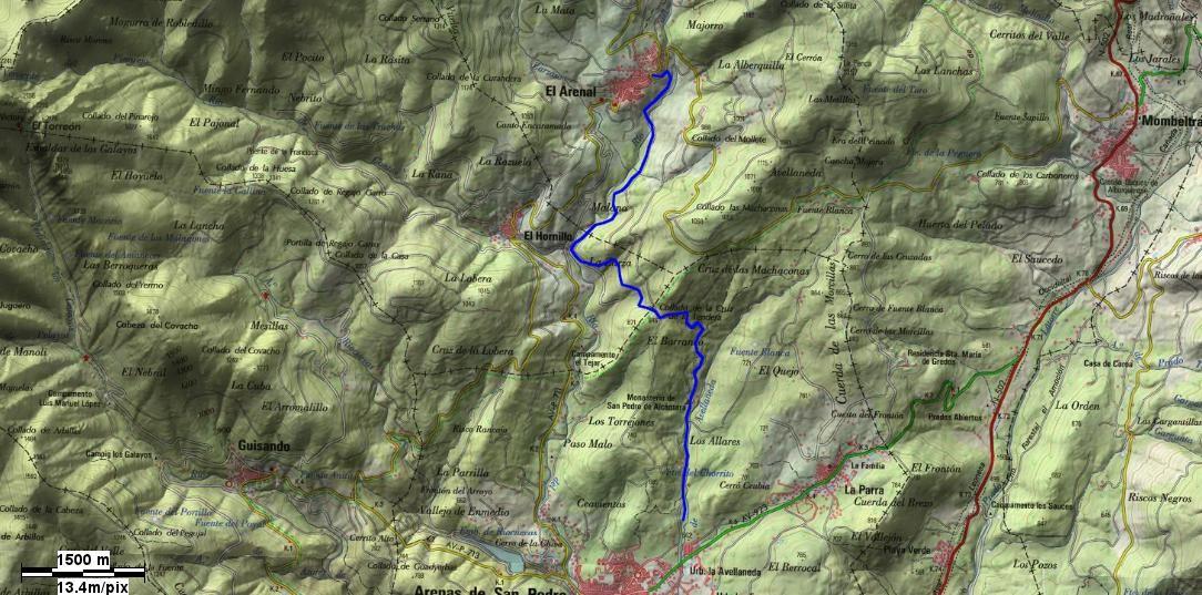 GR-293 - Mapa Localización Etapa 4 - TiétarTeVe