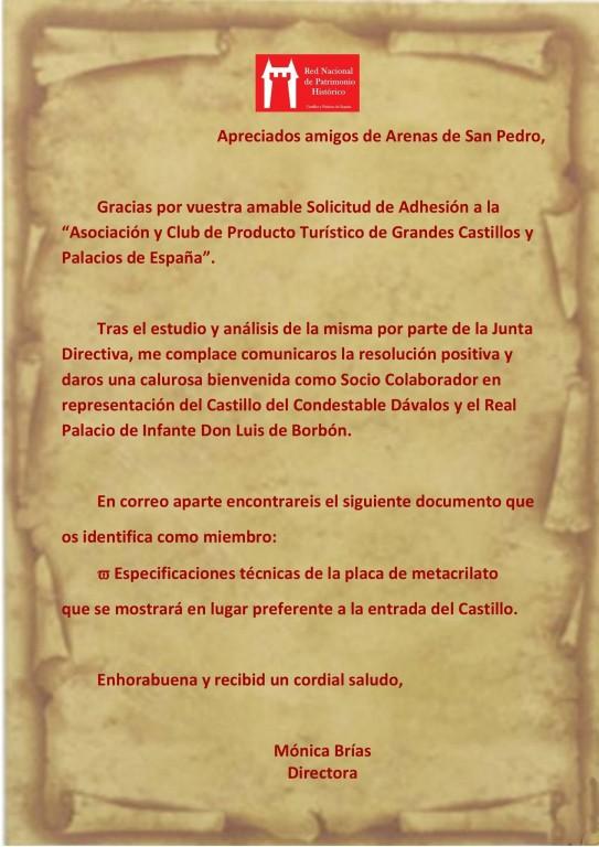 Inclusión de Arenas de San Pedro en la Red de Patrimonio Histórico - TiétarTeVe