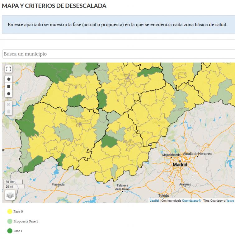 2020-05-15 Mapa Desescalada CyL - TiétarTeVe