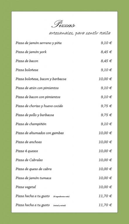 Carta Restaurante Tu Verás - Arenas de San Pedro - TiétarTeVeCarta Restaurante Tu Verás - Arenas de San Pedro - TiétarTeVe