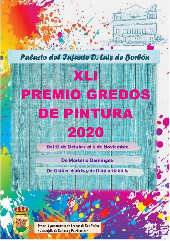 Cartel Premio Gredos de Pintura 2020 - Arenas de San Pedro - TiétarTeVe