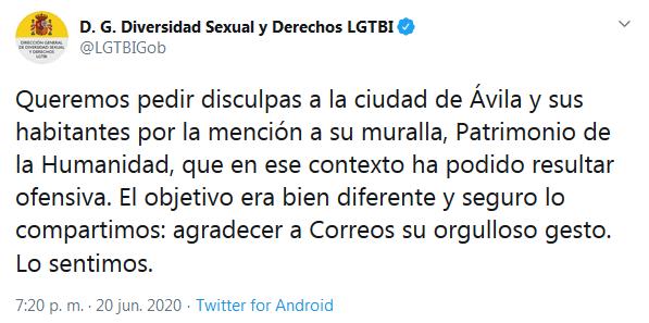 Disculpas D.G. Diversidad Sexual y Derechos  LGTBI - TiétarTeVe