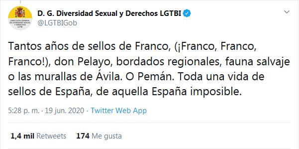 Tweet D. G. Diversidad Sexual y Derechos LGTBI - TiétarTeVe