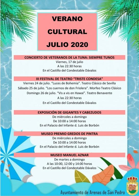 Programación del Verano Cultural 2020 en Arenas de San Pedro - TiétarTeVe
