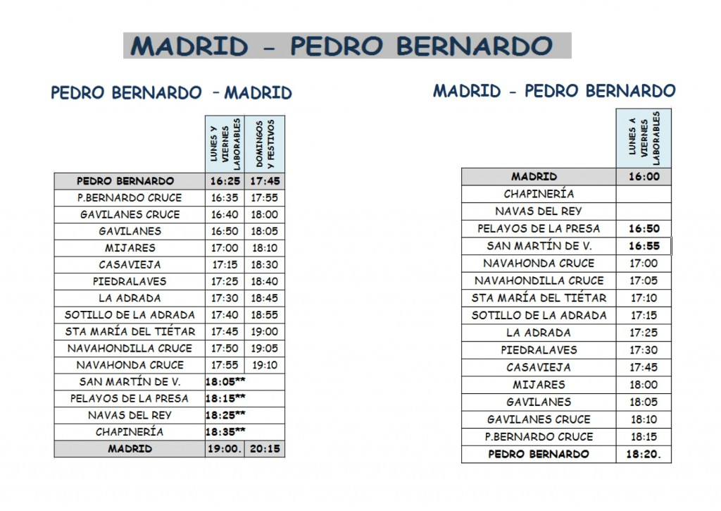 2020-10-01 Horario Bus PedroBernardo-Madrid - TiétarTeVe