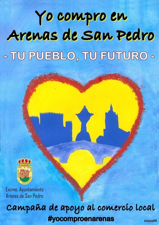 Cartel apoyo al comercio local - Arenas de San Pedro - TiétarTeVe