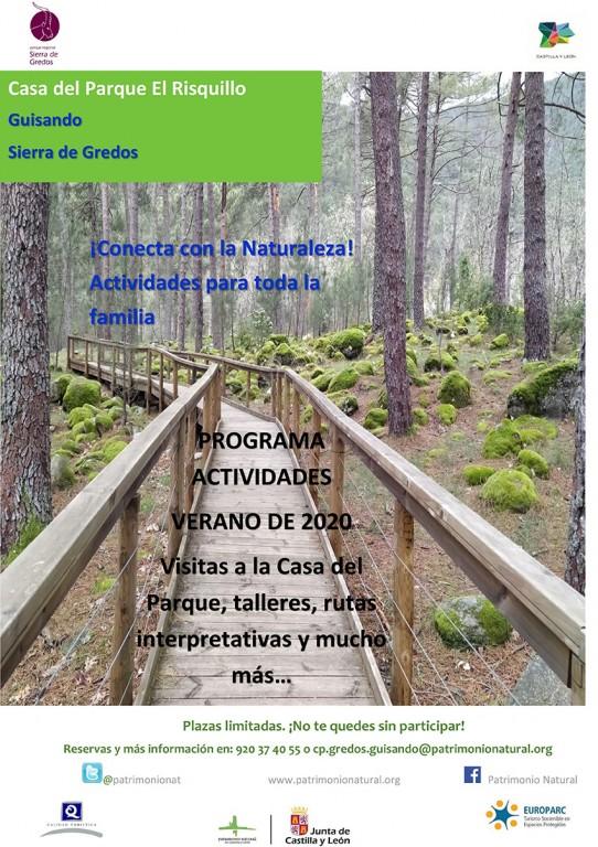 Cartel actividades julio 2020 - Casa del Parque El Risquillo - Guisando - TiétarTeVe