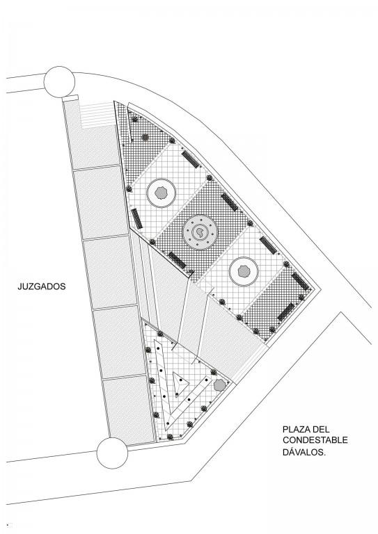 Plano arreglo plaza Condestable Davalos Arenas de San Pedro - TiétarTeVe