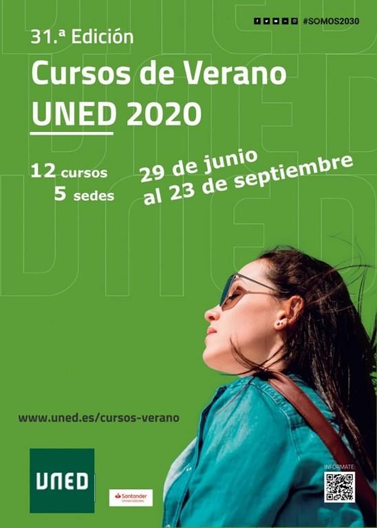 Cartel Cursos de Verano 2020 UNED - Ávila - TiétarTeVe