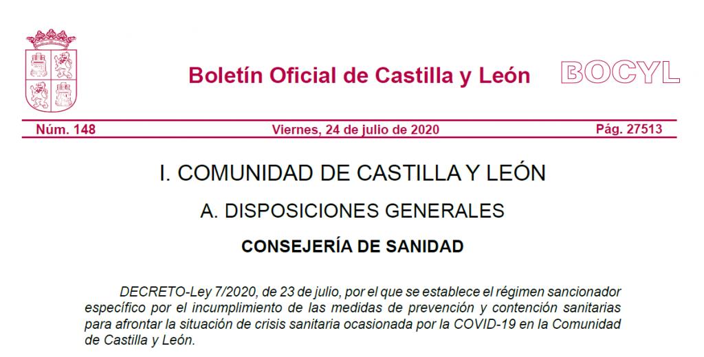 Decreto-Ley 7/2020, de 23 de julio de 2020 - BOCyL - TiétarTeVe