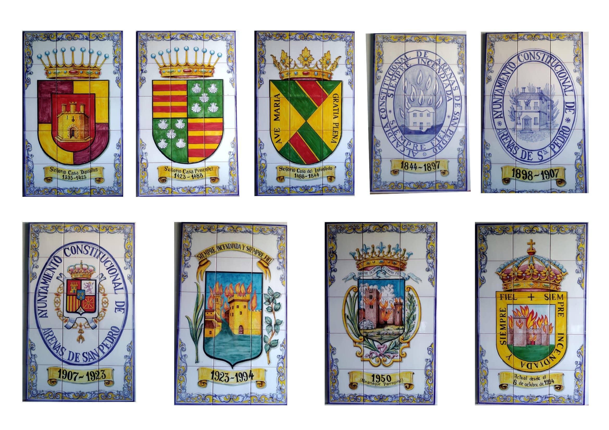 Escudos de Arenas de San Pedro en Cerámica - TiétarTeVe