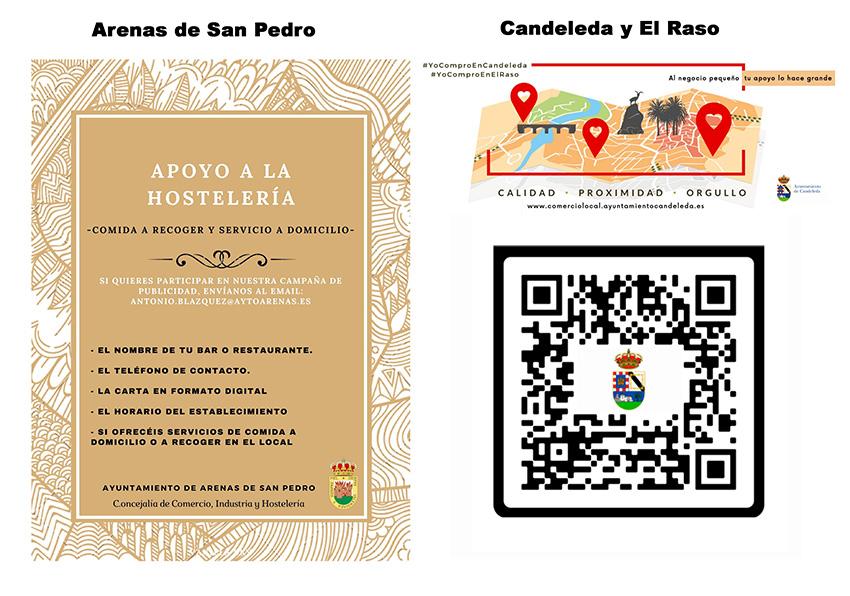 2020-11-06 Apoyo hosteleria Arenas de San Pedro Candeleda y El Raso - TiétarTeVe