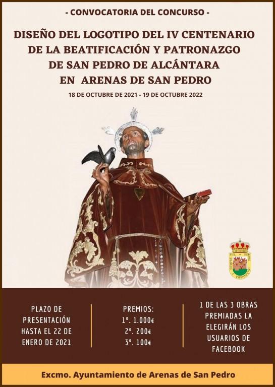 Cartel Concurso Logo IV Centenario beatificación de San Pedro de Alcántara - TiétarTeVe