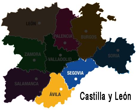 mapa-cyl Ávila y Segovia - TiétarTeVe