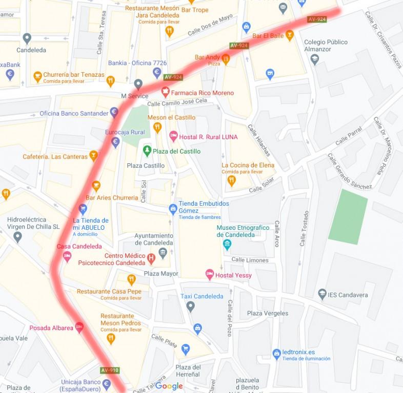 Avenida Ramon y Cajal Candeleda - TiétarTeVe