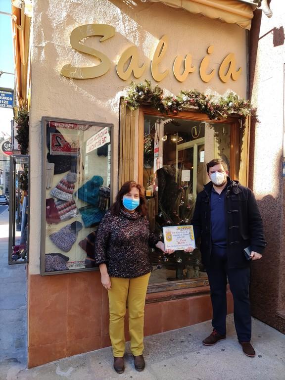2021-01-05 Escaparates Navidad Arenas de San Pedro - Segundo Premio: Salvia