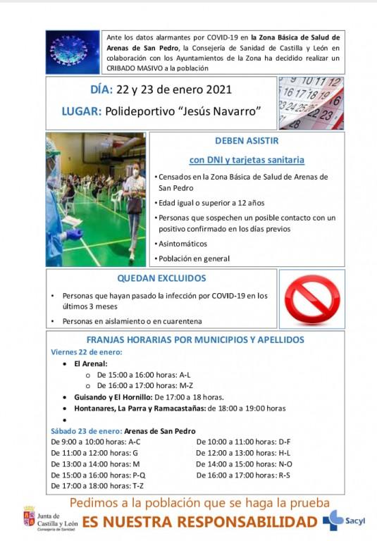 Test Masivos de Antígenos en la Zona de Salud de Arenas de San Pedro - TiétarTeVe