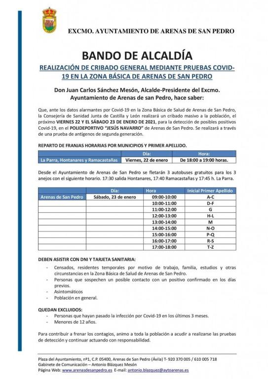 2021-01-24 Cribado Masivo Arenas de San Pedro - TiétarTeVe