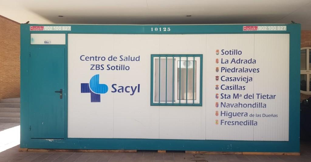 Contenedor Centro Salud SotilloDeLaAdrada - TiétarTeVe