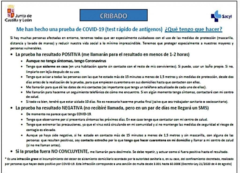 Documento informativo cribado masivo Arenas de San Pedro - TiétarTeVe