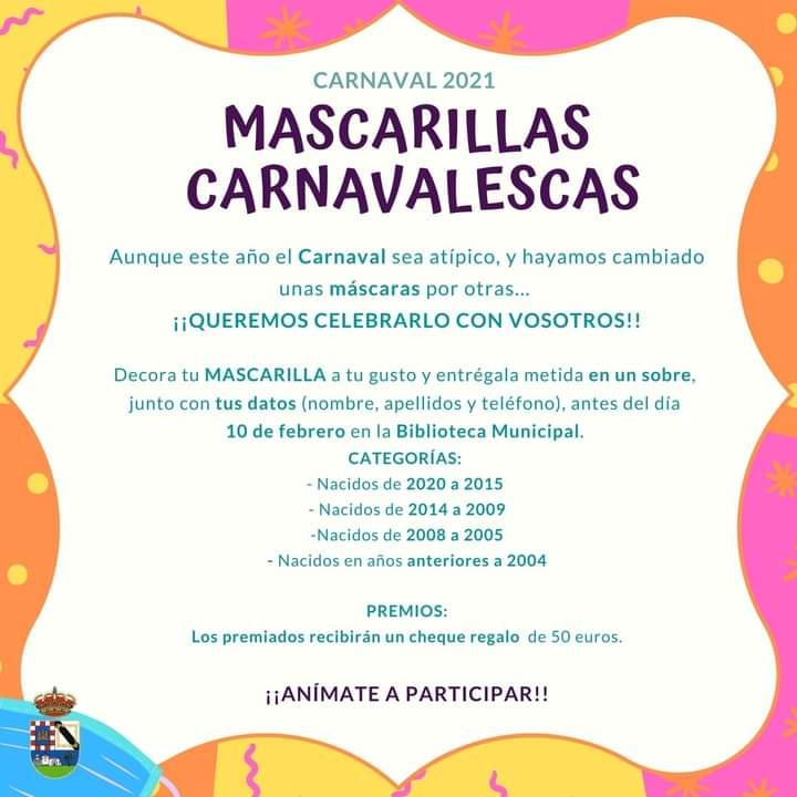 2021-02-01 Concurso Mascarillas Carnavalescas - Ayuntamiento de Candeleda - TiétarTeVe