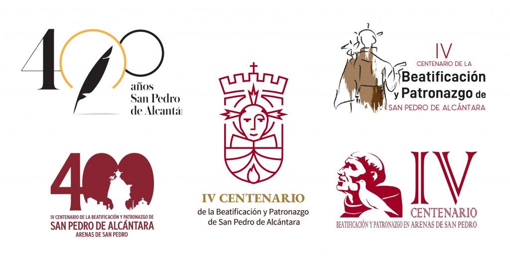 Logotipos Concurso IV Centenario Beatificación y Patronazgo de San Pedro de Alcántara en Arenas de San Pedro - TiétarTeVe