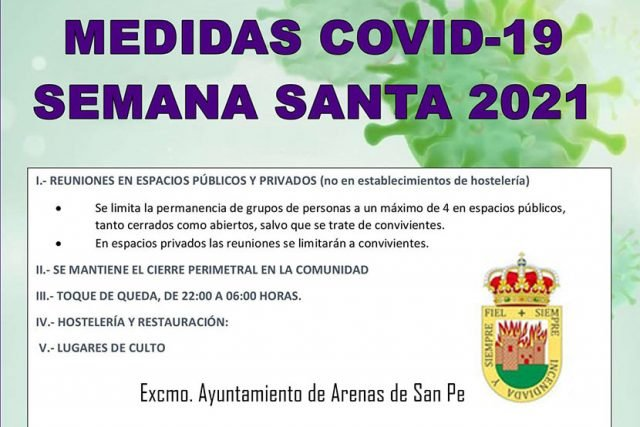 Medicas COVID-19 Semana Santa 2021 - Ayuntamiento de Arenas de San Pedro