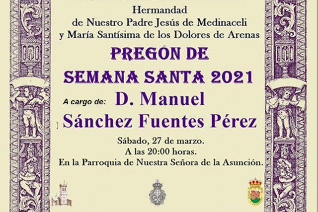 Pregón Semana Santa 2021 Arenas de San Pedro