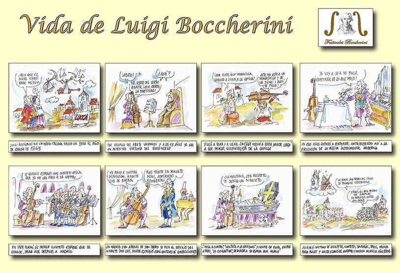 Láminas de Guillermo Summers sobre la vida de Luigi Boccherini - Festivales Boccherini