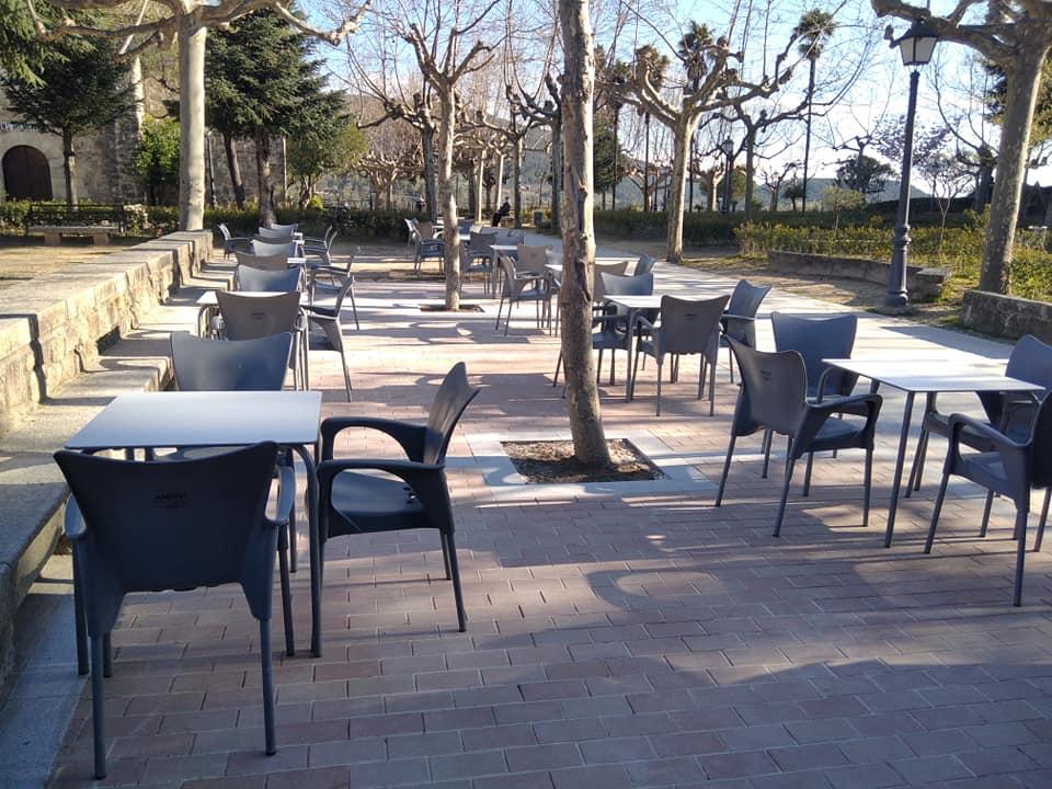 Solado de la terraza del kiosco de La Soledad
