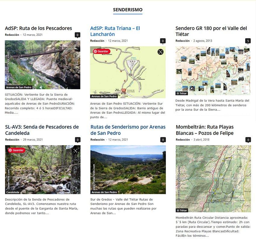 Senderismo en el Valle del Tiétar en TiétarTeVe.com