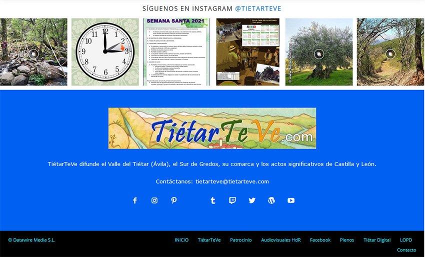 Pie de página de TiétarTeVe.com