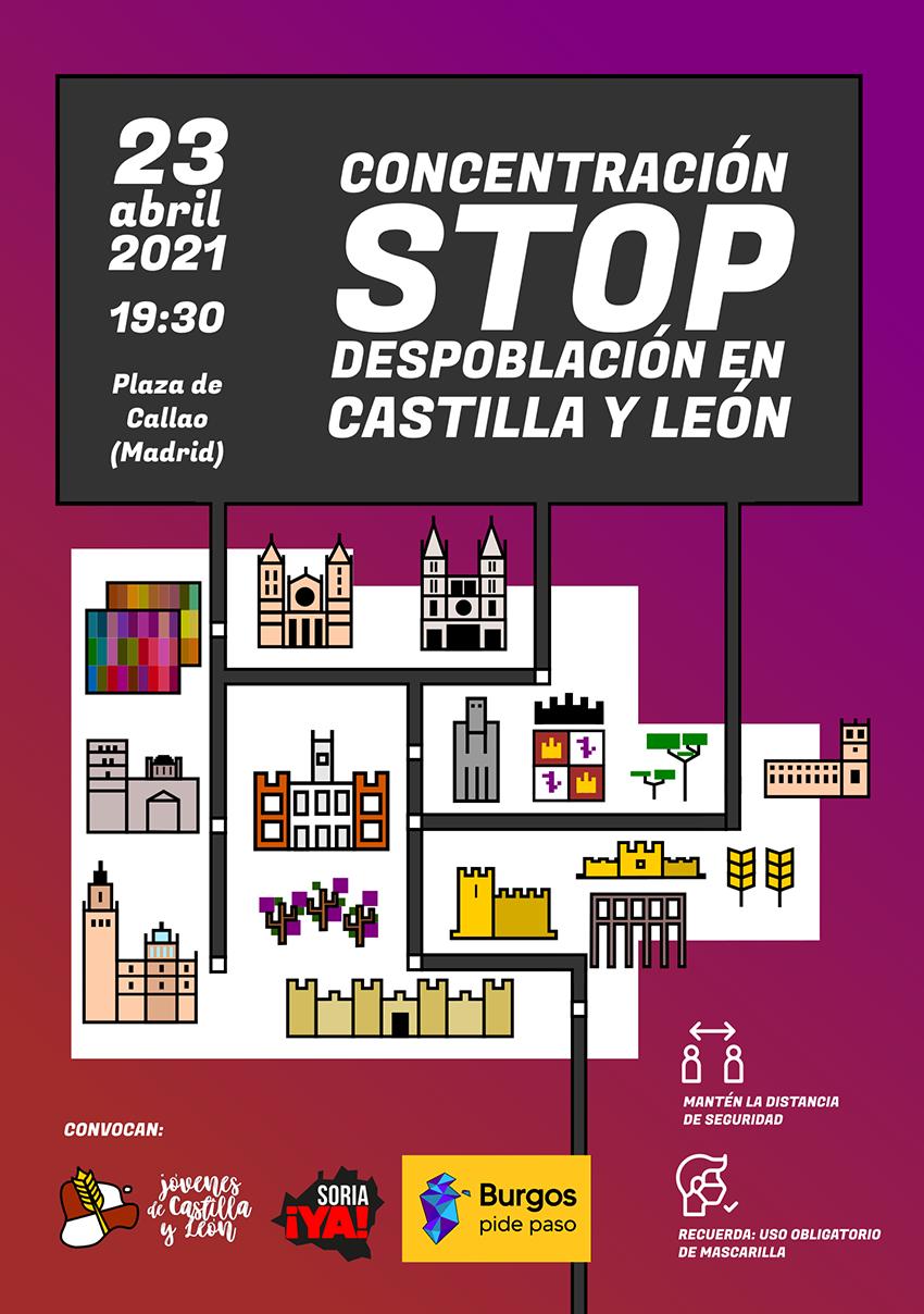 Concentración reivindicativa contra la despoblación de Castilla y León