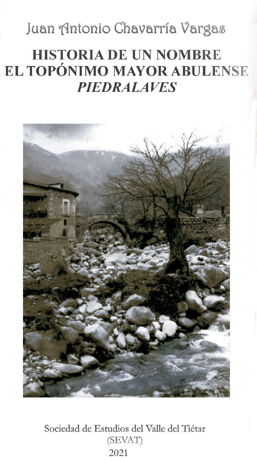Portada del libro sobre Piedralaves