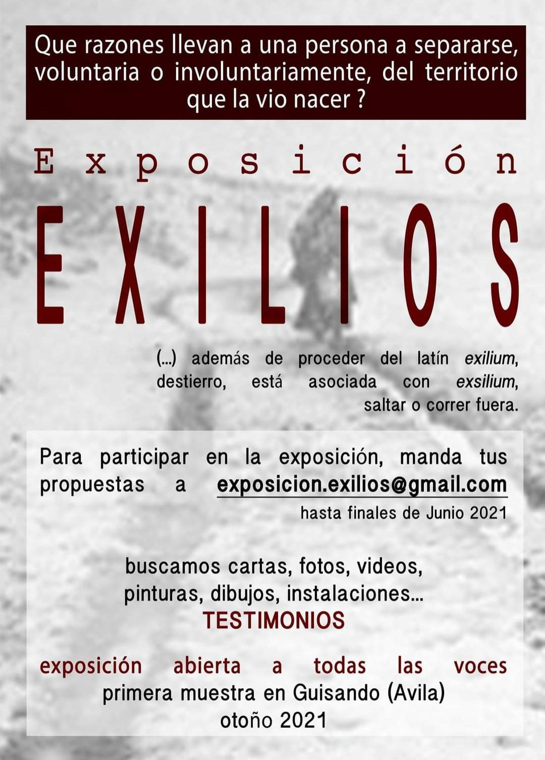 "Exposición colectiva ""Exilios"" en Guisando en otoño de 2021"