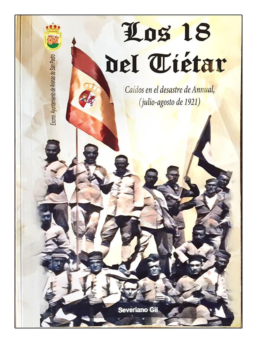 """Portada del libro """"Los 18 del Tiétar"""" sobre el Desastre de Annual"""
