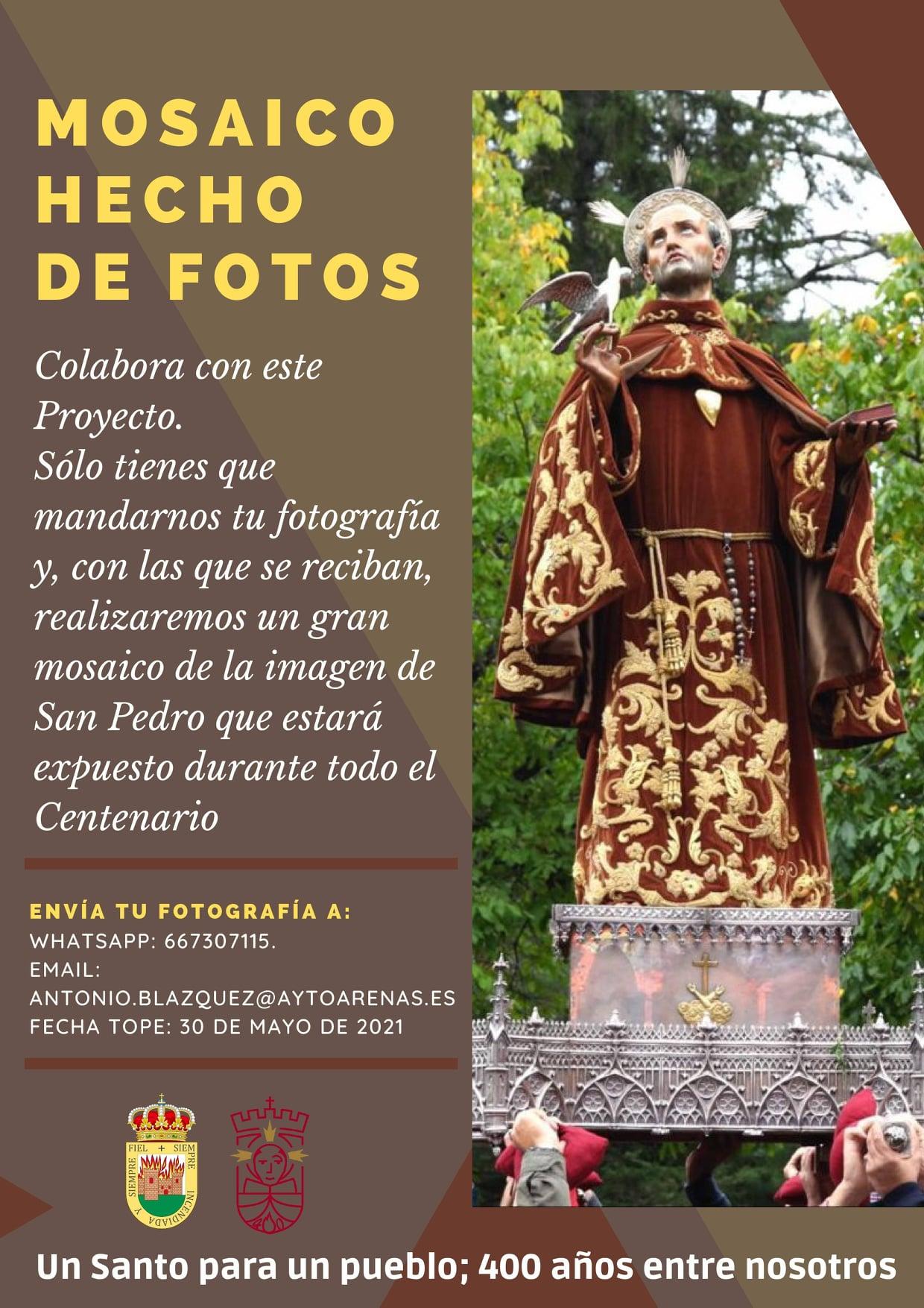 Mosaico hecho con fotos por el IV Centenario de la Beatificación y Patronazgo de San Pedro de Alcántara