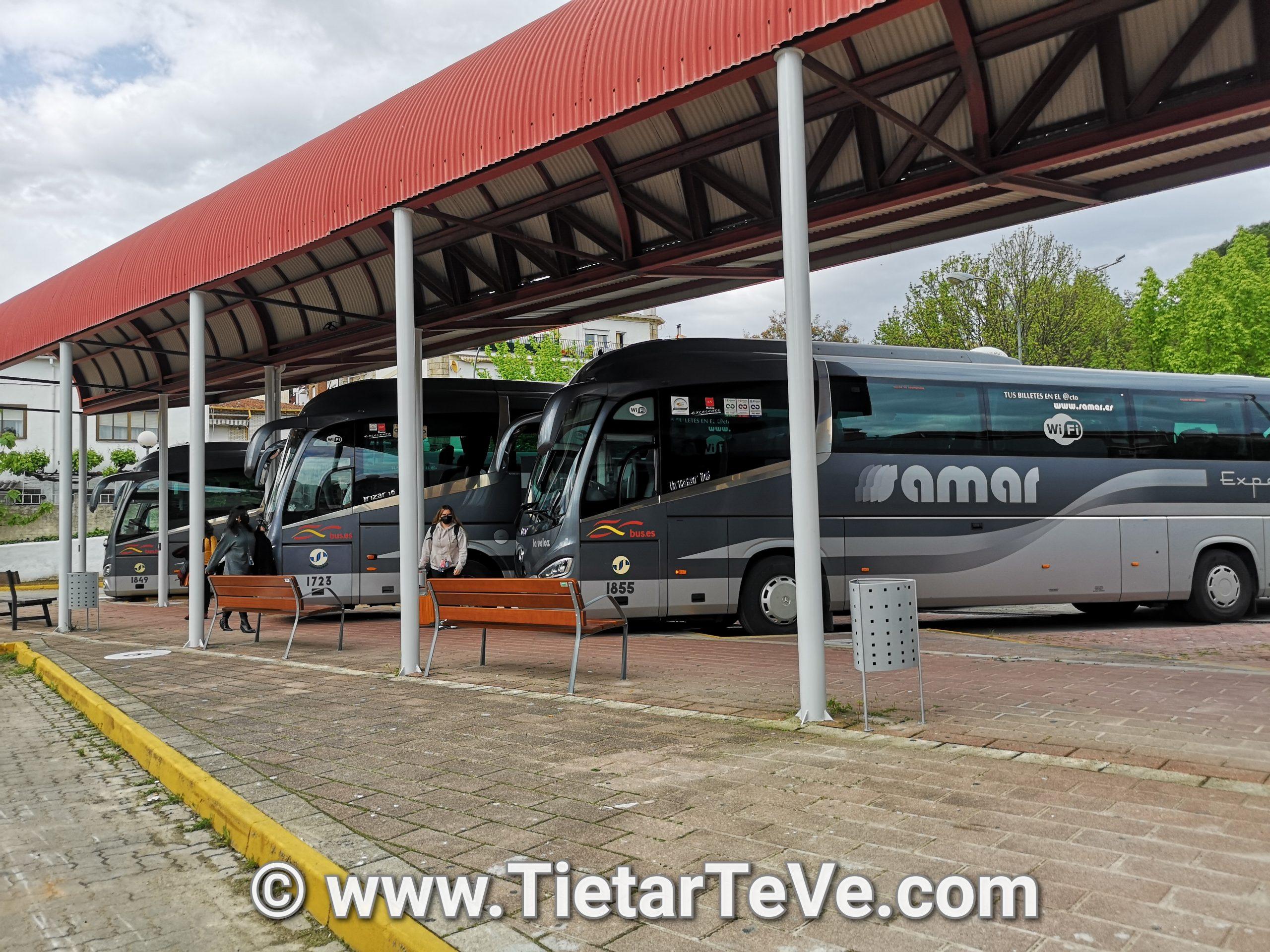 Dársena de la nueva estación de autobuses de Arenas de San Pedro
