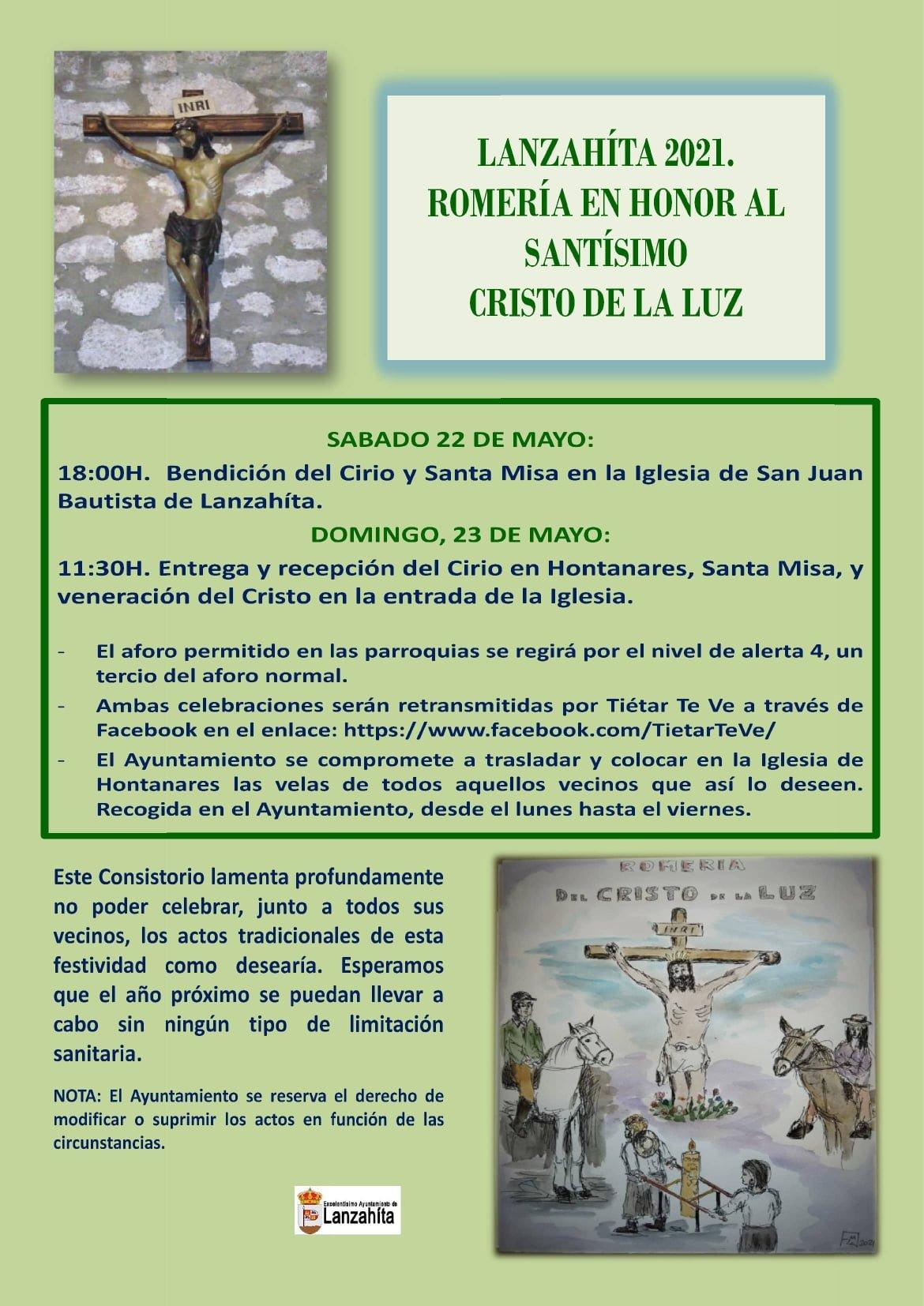 Romería en Honor del Santísimo Cristo de la Luz 2021.