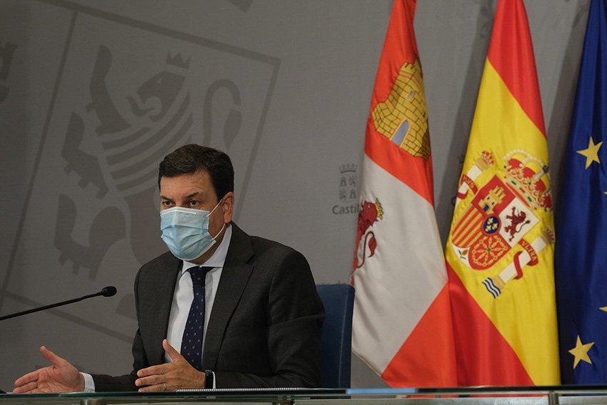 Consejero de Economía y Hacienda de la Junta de Castilla y León, Carlos Fernández Carriedo. Nueva línea de ayudas directas a autónomos y empresas para reducir el imparto económico de la COVID-19