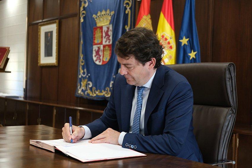 Presidente de la Junta de Castilla y León, Alfonso Fernández Mañueco