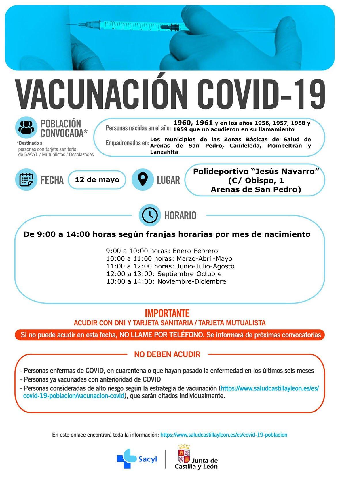 Vacunación en Arenas de San Pedro - 12 de mayo de 2021