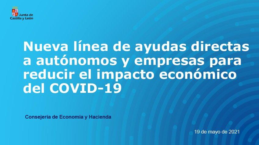 Nueva línea de ayudas directas a autónomos y empresas para reducir el imparto económico de la COVID-19