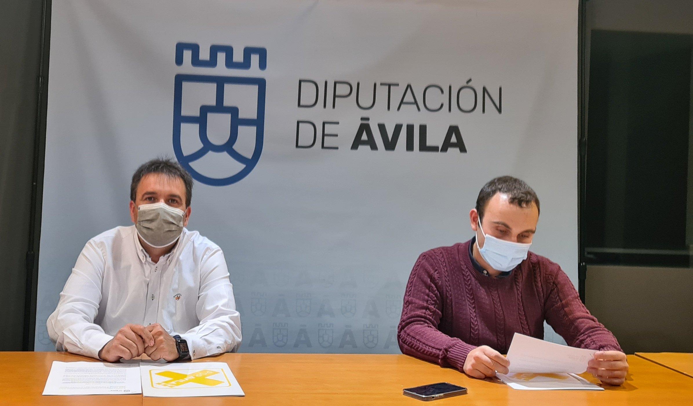 Alberto Encinar (portavoz) y Carlos González, diputados provinciales de Por Ávila