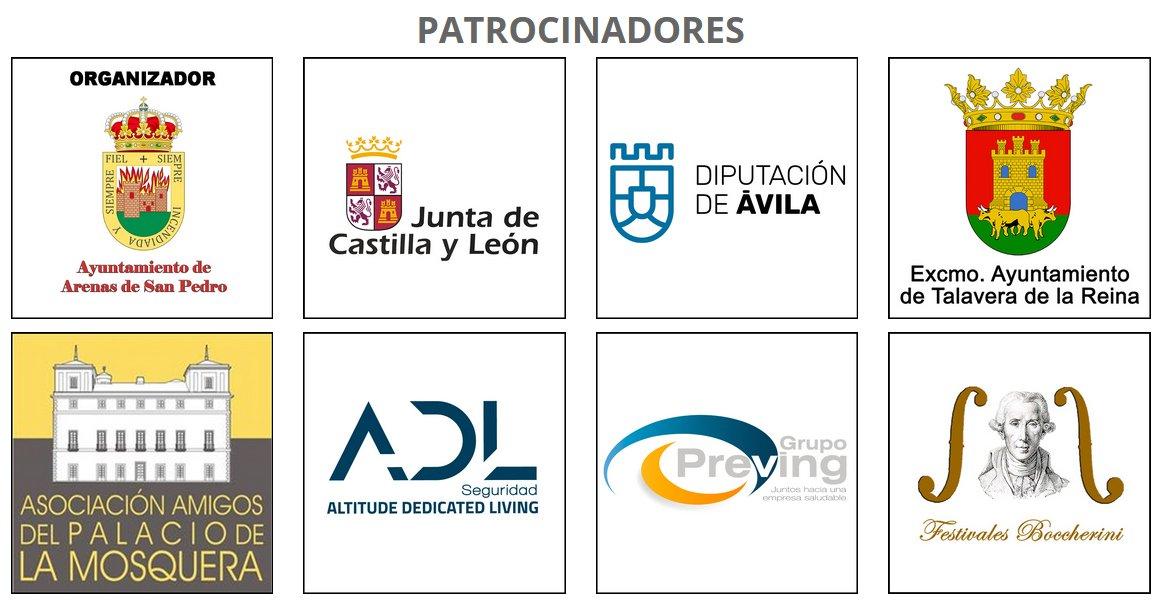 Patrocinadores del XIV Festival Boccherini de Arenas de San Pedro