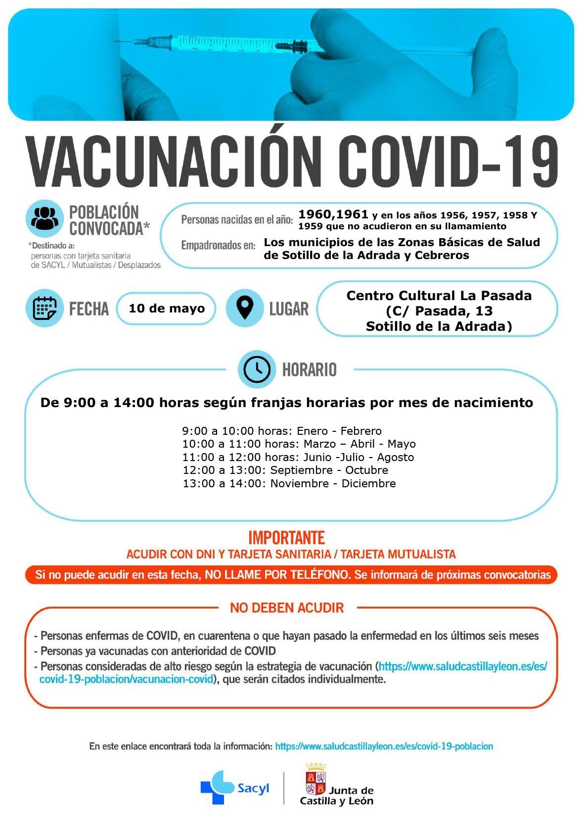 Vacunación en Sotillo de La Adrada - 10 de mayo de 2021
