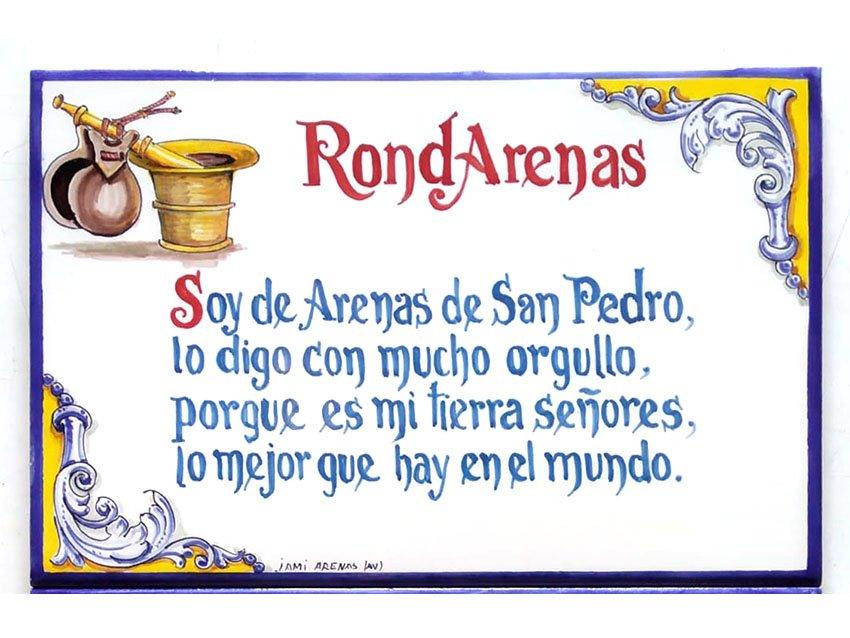 """Placa """"RondArenas"""""""