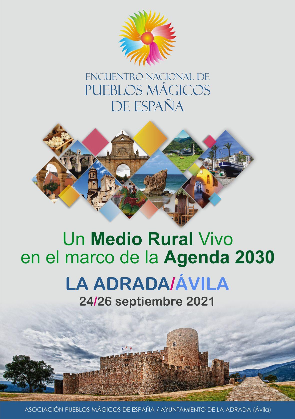 """Encuentro anual de """"Pueblos Mágicos de España"""" en La Adrada el 24, 25 y 26 de septiembre de 2021 con representación de más de 100 localidades"""