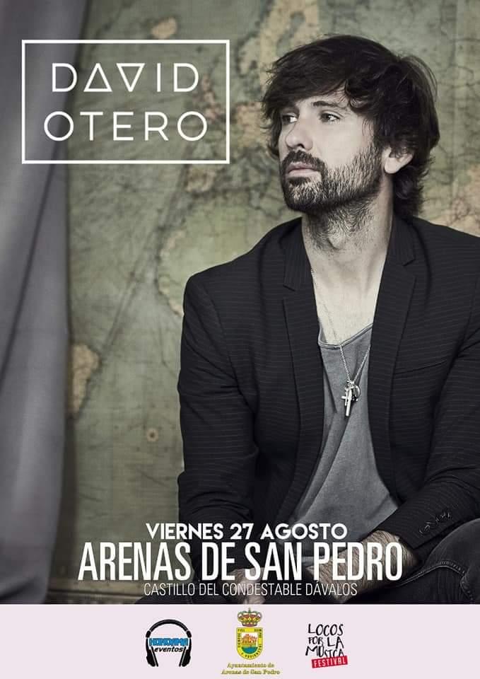 Concierto de David Otero en Arenas de San Pedro el 27 de agosto de 2021