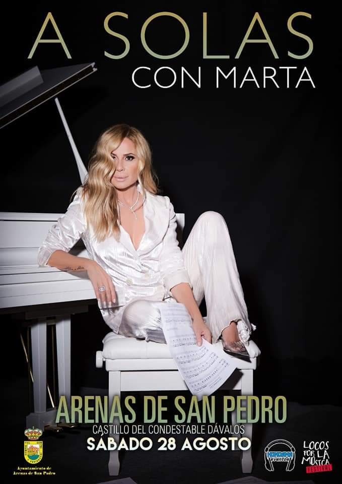 Concierto de Marta Sánchez en Arenas de San Pedro el 28 de agosto de 2021